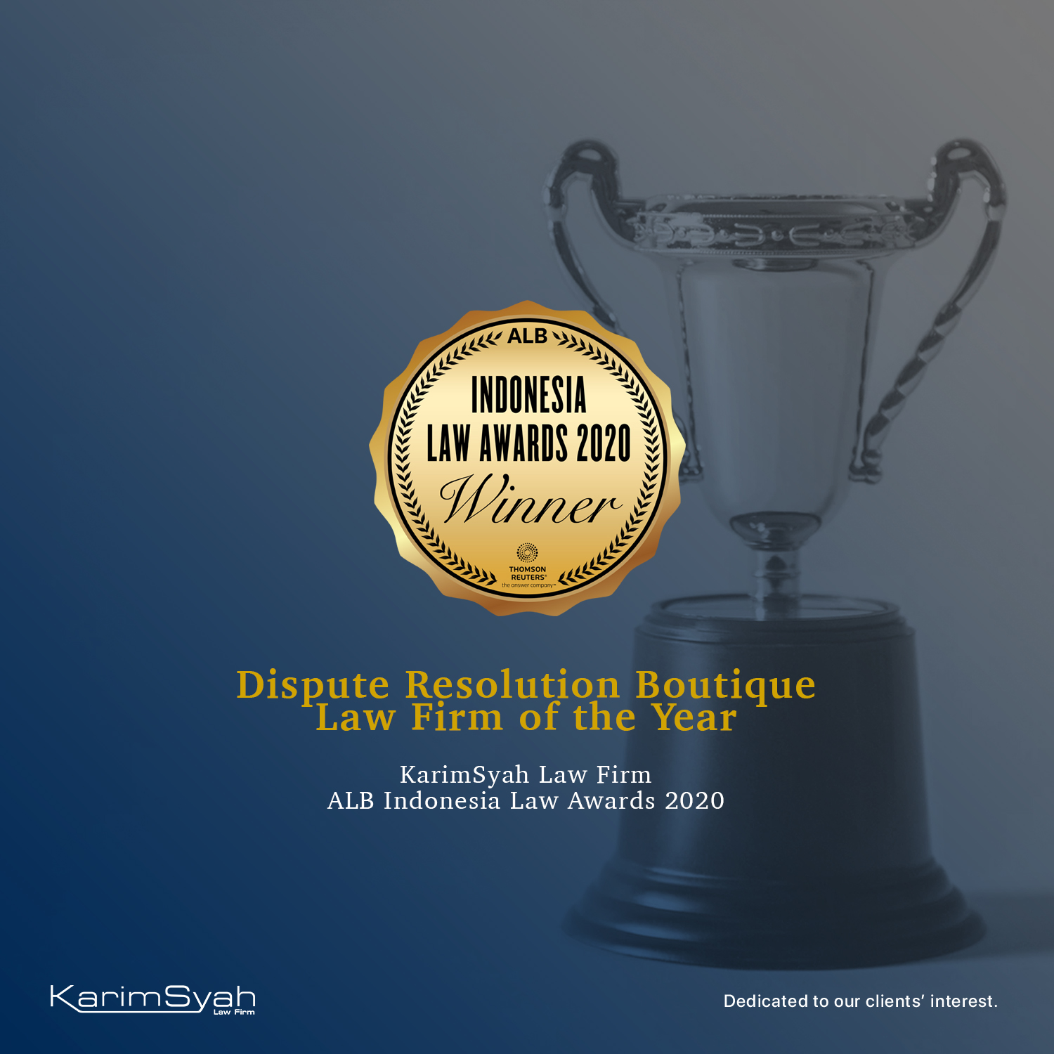 KarimSyah wins Dispute Resolution Boutique Law Firm of the Year